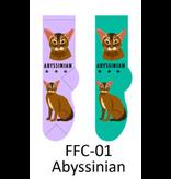 Foozy Abyssinian Cat Socks Woman by Foozy