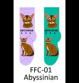 Foozy Abyssinian Cat Socks Woman
