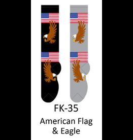 Foozy American Flag & Eagle Knee High Womens Socks