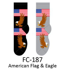 Foozy American Flag & Eagle Womens Socks