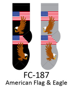 Foozy American Flag & Eagle Womens Socks by Foozy