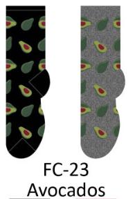 Foozy Avocado Womens Socks