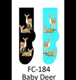 Foozy Baby Deer Womens Socks