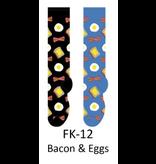 Foozy Bacon & Eggs Knee High Womens Socks