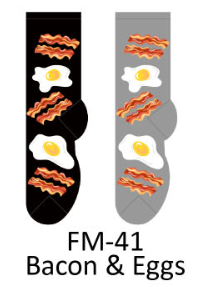 Foozy Bacon and Eggs Socks Men