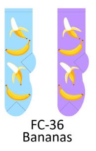 Foozy Bananas Womens Socks