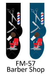 Foozy Barber Shop Mens Socks