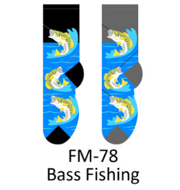 Foozy Bass Fishing Socks Men