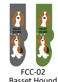 Foozy Basset Hound Socks Women