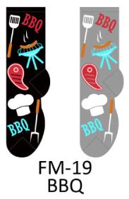 Foozy Barbeque Mens Socks