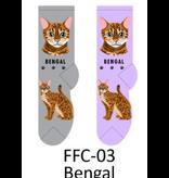 Foozy Bengal Cat Socks Women