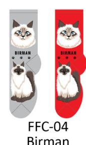 Foozy Birman Cat Socks Women