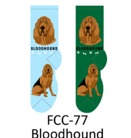 Foozy Bloodhound Dog Socks Women