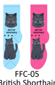 Foozy British Short Hair Cat Socks Women