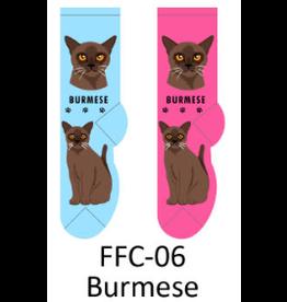 Foozy Burmese Cat Socks Women