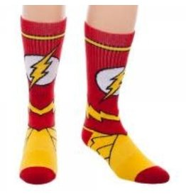 D.C. Comics Flash Suit Up Athletic Mens Socks