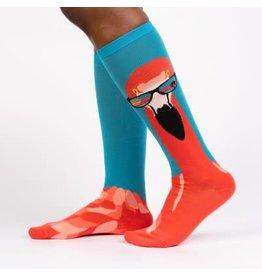 Sock it to Me Ready To Flamingle Womens Knee High Socks