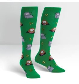Sock it to Me Sloth Machine Womens Knee High Socks