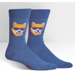 Sock it to Me Hipster Dog Recolor Mens Socks