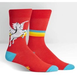 Sock it to Me Pegasus Retro Stripe Mens Socks