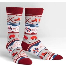 Sock it to Me Ugly Hockey Sweater Mens Socks