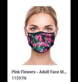 Odd Sox Odd Mask Adult Pink Flowers