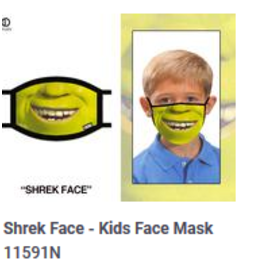 Odd Sox ODD Kid Mask Shrek Face