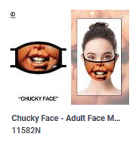 Odd Sox ODD Adult Mask Chucky Face