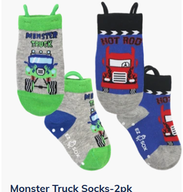 Ezsox Kids EZ Sox 2 Pair Monster Truck Socks