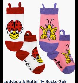 Ezsox Kids EZ Sox 2 Pair Pack Ladybug & Butterfly Socks