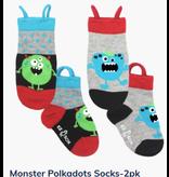 Ezsox Kids EZ Sox 2 Pair Pack Monster Polka Dots Socks