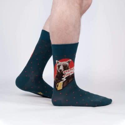 Sock it to Me Bearly Awake Mens Socks