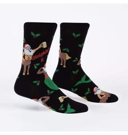 Sock it to Me Merry Christmas Merman Mens Socks