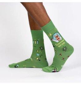 Sock it to Me Trust me Llama Scientist Mens Socks