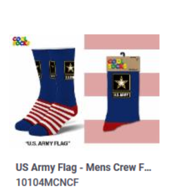 Cool Socks Cool U.S Army Flag Mens Socks