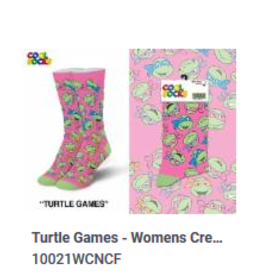 Cool Socks Cool Turtle Games Womens Socks