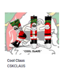 Cool Socks Cool Clause Christmas Mens Socks