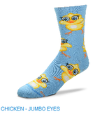 For Bare Feet Chicken Eyes Jumbo Womens Socks
