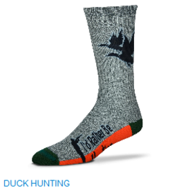 For Bare Feet Duck Hunting Mens Socks