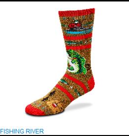 Fishing River Socks Mens