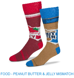 For Bare Feet Peanut Butter and Jelly One Size Fits Most Socks