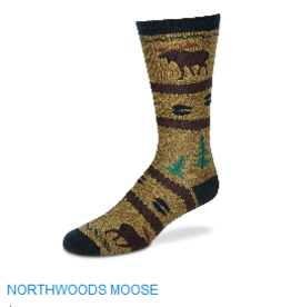 For Bare Feet North Woods Moose Womens Socks