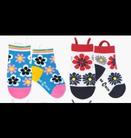 Ezsox Kids EZ Sox 2 Pair Pack Flowers