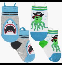 Ezsox Kids EZ Sox 2 Pair Shark Octopus