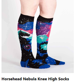 Horsehead Nebula Womens Knee High Socks