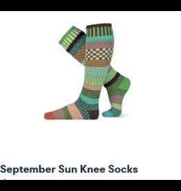 Solmate Solmate Mismatched  Knee-Hi September Sun Womens Socks Large