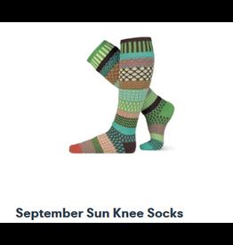 Solmate Solmate Mismatched  Knee-Hi September Sun Womens Socks Medium
