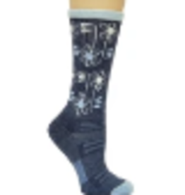 Winter Nits Casual Wool Flowers Womens Socks
