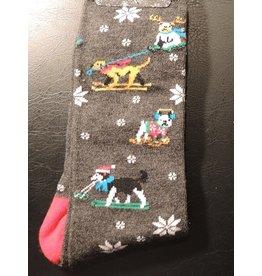 Davco Mens Sledding Dogs Socks