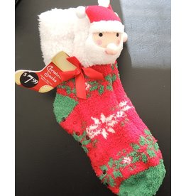 3D Santa Non Skid Slipper Socks Womens